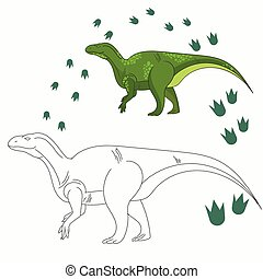 Educational game connect dots to draw dinosaur - Educational...