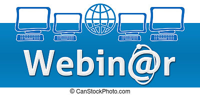 Webinar With Globe And Screens - Webinar concept image with...