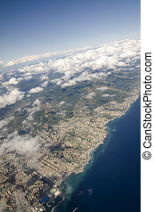 aerial view of Genoa