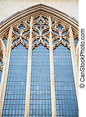 door southwark cathedral in london england old construction...