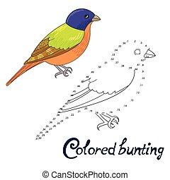 Educational game connect dots to draw bird - Educational...