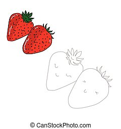 Educational game connect dots draw strawberry - Educational...