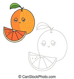 Educational game connect dots to draw orange - Educational...