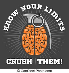 Psychological logo - Brain Grenade - Brain distortion from...
