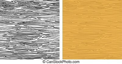 Wooden Texture, Seamless - Set of Seamless Backgrounds of...