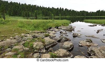 Beautiful panorama sixth Karakol lakes.