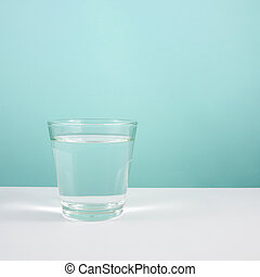 The glass of pure water 1 - The glass of pure water on white...