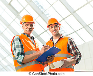 Construction Industry - Portrait of a man construction...