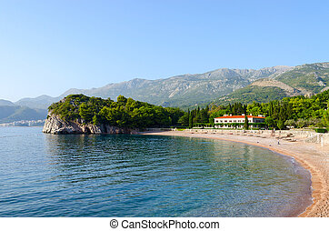 The famous Kings Beach, Milocer, Montenegro - Beautiful...