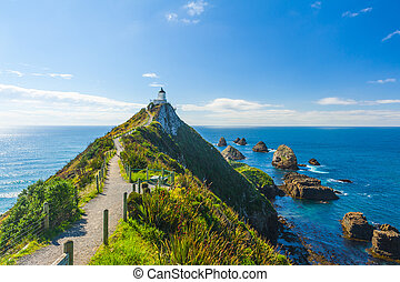 Nugget Point - Lighthouse on Nugget Point It is located in...