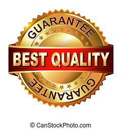 Best Quaiity golden label with ribbon - Best Quaiity golden...