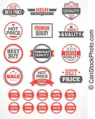 Set labels and stickers