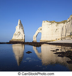 View of Etretat Aval cliff