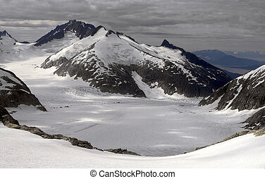 Juneau Icefields - Alaska - Aerial view of the Juneau...