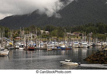 Sitka - Alaska - The harbor at Sitka in Alaska
