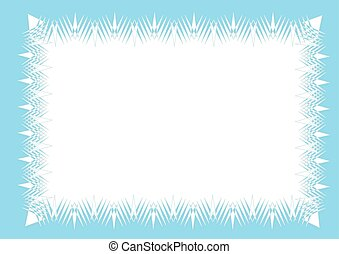 Icy frame background