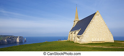 Panoramic view of Church Notre Dame de la Garde chapel and...