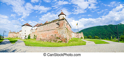 Brasov fort - Brasov Guard Fortress on the hill above wich...