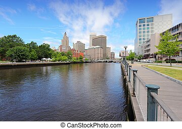 Providence - Skyline of Providence, Rhode Island. City view...