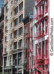 SoHo in New York City, United States - old residential...