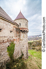 Corvinilor Castle - Old medieval historic fortified tower...