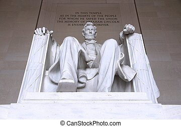 Lincoln Memorial - Washington DC, capital city of the United...