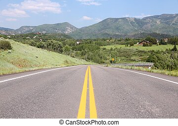 Steamboat Springs - Colorado, USA Road in Steamboat Springs...