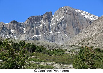 Longs Peak - Colorado - Rocky Mountain National Park in USA....