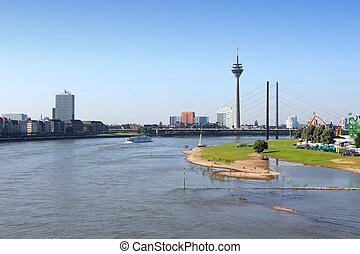 Dusseldorf skyline - Dusseldorf - city in North...