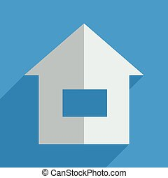 Flat icons modern design with shadow of home Vector...