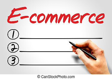 E-commerce blank list, business concept