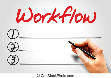 Workflow blank list, business concept