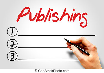 Publishing blank list, business concept