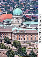 Buda Castle - Budapest, Hungary - cityscape with Buda Castle...