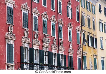 Carrara, Tuscany - Carrara, Italy - Old Town colorful...