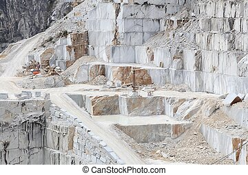 Carrara marble quarry - Carrara, Italy - marble quarry in...
