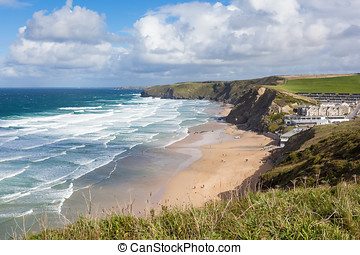 Watergate Bay, Cornwall - Watergate Bay in Cornwall,...