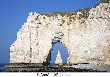 Famous Etretat cliffs - Famous cliffs at Cote dAlbatre...