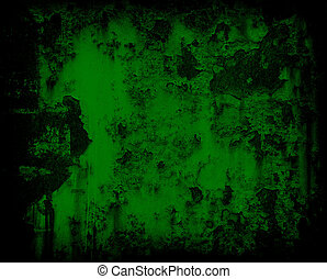dark green grunge rusty metal wall background or texture