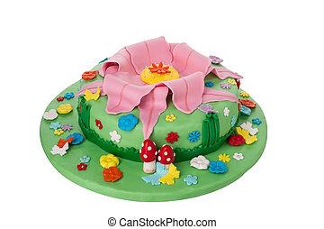 自然, 創造性, 主題, 生日, 美味, 孩子, 植物, 蛋糕