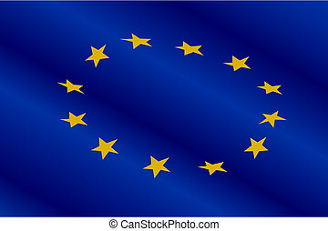Flag of Europe Union for design as a background or texture