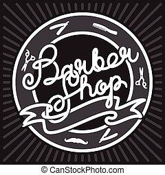 barber shop - Hipster Barber Shop Lettering. Vintage...