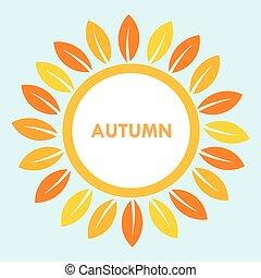 Autumn sun flower vector - Autumn sun flower background...