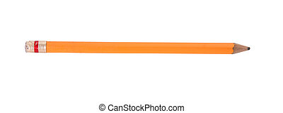 Pen - Old yellow pen over white background isolated image
