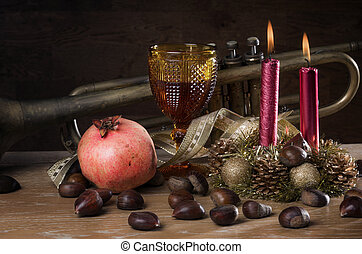 Christmas Fall Still-life