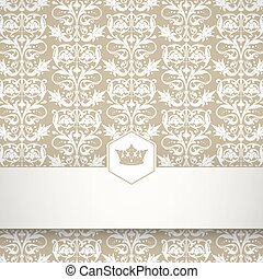 Ornamental floral pattern with plac