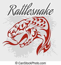 Rattlesnake - vintage vector artwork for wear Vector stock...
