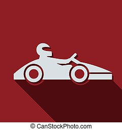 Basic RGB - Kart with driver icon. Vector illustration