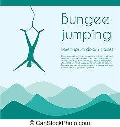 Bungee jumping - Rope jumping Bungee jumping Extreme sports...