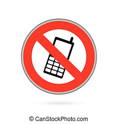 móvil, teléfono,  vector,  no, señal